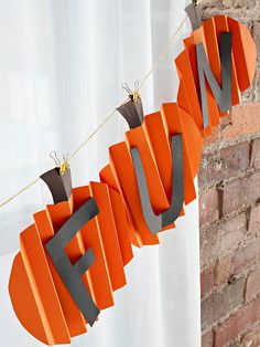 Pumpkin Fun Garland