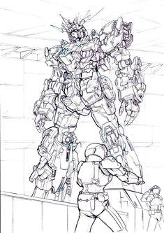 Neutral Color Scheme, Color Schemes, Cyberpunk, Gundam Art, Custom Gundam, Armor Concept, Mechanical Design, Mobile Suit, Character Art