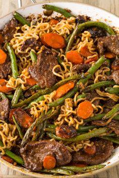 Ginger Beef Stir-Fry with Ramen