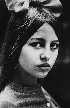 Ed van der Elsken : Portrait of a young girl, c1965
