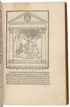 Hypnerotomachia Poliphili (Poliphilo's Strife of Love in a Dream). Attributed to Francesco Colonna (1433-1527).Printed by Aldus Manutius in Venice, 1499