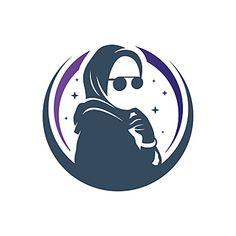 Vector Logo Design, Logo Design Template, Mosque Silhouette, Woman Silhouette, Hijab Logo, Learning Logo, Logo Face, Muslim Women Fashion, Beautiful Muslim Women
