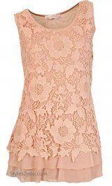 AP Elsie Shirt Dress In Peach
