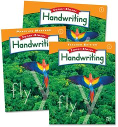Zaner-Bloser Handwriting Grade 1 Home School Bundle - Student Edition/Teacher Edition/Practice Masters | Main photo (Cover)