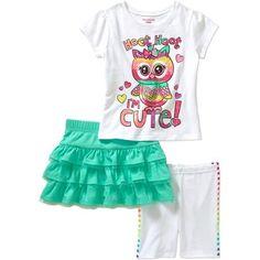Garanimals Baby Toddler Girl Tee, Skort & Short Outfit Set - Walmart.com