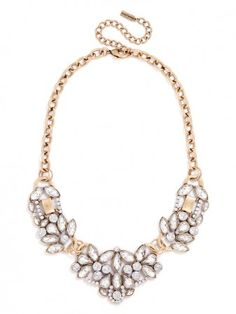 The Crystal Trellis Necklace is perfect for Maureen- especially on her strapless neckline!