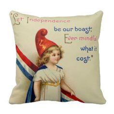 "Retro 4th July independence day Throw Pillows (<em data-recalc-dims=""1"">$33.95</em>)"