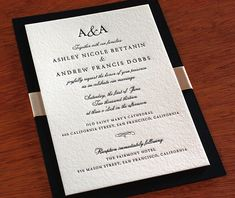 monogram letterpress wedding invitation by invitations by ajalon