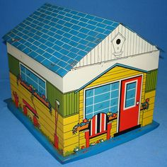 Antique Tins | VINTAGE TIN LITHO TOY SUPER GARAGE DOLL HOUSE ACCESSORY - Vintage-Toys ...