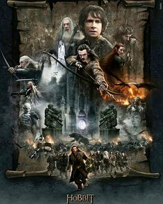 """2,607 Likes, 13 Comments - Middle Earth / Tolkien Art (@immortal.tolkien) on Instagram: """"The Hobbit Poster, kinda sums it up 3 in 1. What do you think? . . . . . . . . . .…"""""""