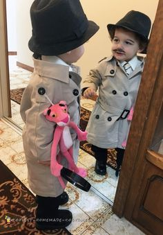 Cool Inspector Jacques Clouseau Costume from The Pink Panther Cool + Inspector + Jacques + Clouseau + Kostüm + von + The + Pink + Panther Best Kids Costumes, Office Halloween Costumes, Halloween Costume Contest, Boy Costumes, Adult Costumes, Cartoon Costumes, Costume Ideas, Pink Panther Costume, Pink Costume