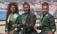 From the video of Boney M Summer Mega Mix 1989 (Bobby Farrell Madeleine Davis Marcia Barrett Maizie Williams) — with Madeleine Davis, Maizie Williams, Bobby Farrell and Marcia Barrett of Boney M..