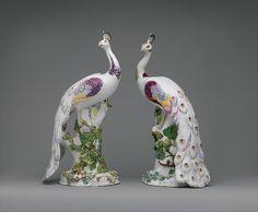 Chelsea Porcelain Manufactory (British 1745-1784). Peacocks, ca. 1756. The Metropolitan Museum of Art, New York. Gift of Irwin Untermyer, 1964 (64.101.480).