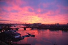 What a fantastic sunset over London, seen from the East End.