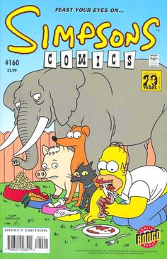 simpsons comic 160 | Simpsons Comics #160 - Simpsons Animal Story (Issue)