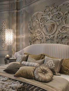 versace cavalli style on Behance Luxury Bedroom Design, Hotel Room Design, Luxury Rooms, Master Bedroom Design, Luxurious Bedrooms, Interior Exterior, Luxury Interior, Home Interior Design, Versace Home