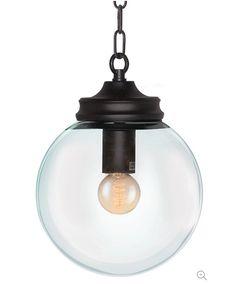 Glass Globe Pendant Light Diameter : 7.9x7.9x9.8 inches $54.99