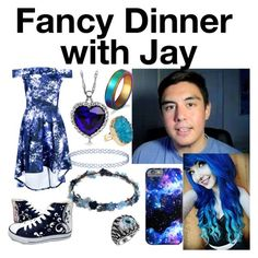 """Fancy Dinner with Jay from the Cubz Scouts"" by puppylover32203 ❤ liked on Polyvore featuring Boohoo, HVBAO, WithChic, Topshop and Helix & Felix"