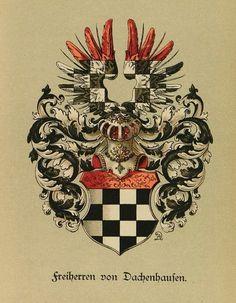 Wappen der Freiherren von Dachenhausen / Coat of Arms of The Barons von Dachenhausen / Armas de los Barones von Dachenhausen