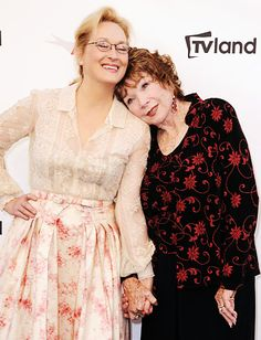 Shirley MacLaine leaned on pal Meryl Streep at the AFI Life Achievement Award ceremony in her honor, held at #Sony Picture Studios in Culver City,  6/7/12 http://celebhotspots.com/hotspot/?hotspotid=6517&next=1