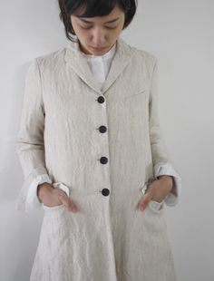 [Envelope Online Shop] Bergfabel linen long coat Lisette Select