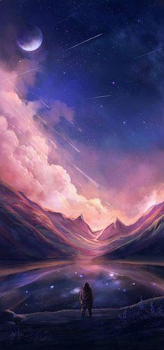 landscapes scenery digital art by niken anindita is part of Animation art - Landscapes & Scenery Digital Art by Niken Anindita Digitalart Space Anime Kunst, Art Anime, Fantasy Kunst, Fantasy Art, Dream Fantasy, Dream Art, Unicorn Fantasy, Digital Art Fantasy, Fantasy Landscape