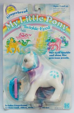 Generation One G1 vintage 1980's My Little Pony Twinkle Eyed Pony Gingerbread earth pony new on card by dianogachile.  #mlpmib  #mylittlepony  #g1mlp