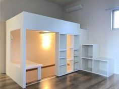 Look at these first-rate applications for a loft bed area Room Design Bedroom, Home Room Design, Room Ideas Bedroom, Bedroom Layouts, Small Room Bedroom, Bedroom Decor, Build A Loft Bed, Loft Bed Plans, Queen Loft Beds