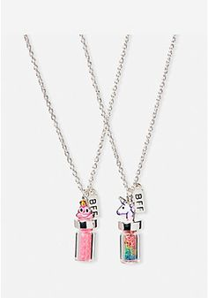 BFF Emoji Potion Necklace - 2 Pack