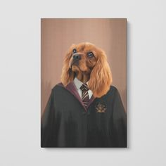 """pet canvas print """"Customize your favorite oil painting plus your pet portrait Check out our FAQ below for pet portrait tips so you can make sure you capture the perfect picture of Fido!"""