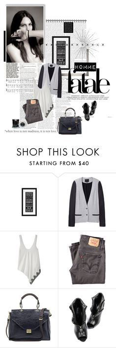 """when love is not a madness, it is not love"" by idha-augustus ❤ liked on Polyvore featuring Alexander Wang, AND 1, Levi's, Mulberry, Alexander McQueen, Archipelago Botanicals, combat boots, oversized cardigans, black skinny jeans and male model"