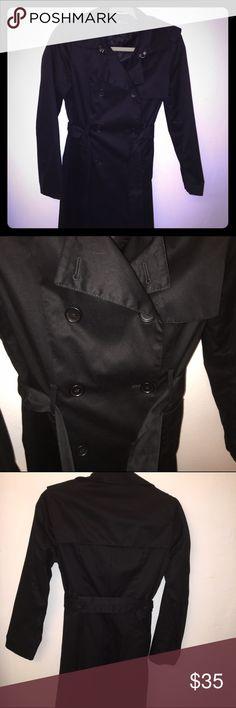 Black Trench coat Worn three times Banana Republic Jackets & Coats Trench Coats