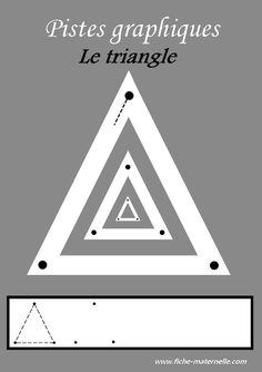 Des pistes graphiques à plastifier pour apprendre à écrire : le triangle