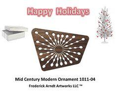 1011-4 Mid Century Modern Christmas Ornament