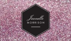 Glitzy hot pink diamond bling modern makeup artist business cards luxe mauve pink glitter sophisticated name plate beauty business cards http reheart Gallery