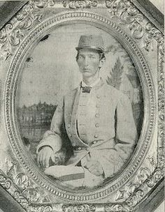 Benjamin Cason Rawlings (1845-1908). First Virginian to enlist in the Confederate Army. He was also, enlisting at age 16, the youngest southern soldier to serve the entire war. Ben was present at the bombardment of Fort Sumter and surrendered three weeks after Lee's surrender in Appomattox.