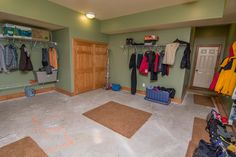 This room was MADE for skiers and snowboarders! A nice big mud room with tons of storage space makes the transition from the slopes to relaxing in the house much easier and much less messy. This Ski-In/Ski-Out house is located in a ski-access community at Deep Creek Lake and Wisp Resort and was clearly designed for those who love winter!