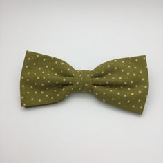 Mens Bow tie Olive Green Little Star Pre tied Bow tie Wedding Men Women Teen Boy Baby Toddler Children Bow tie for Groom Groomsmen by GloiberryBowtie on Etsy https://www.etsy.com/uk/listing/260156949/mens-bow-tie-olive-green-little-star-pre
