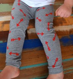 Best Shot Hand Stamped Unisex Arrow Leggings, Boys or Girls Baby Toddler Painted Pants, Pick Paint Color and Pant. $18.00, via Etsy.