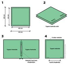 Sy kuddfodral med dragkedja - instruktion