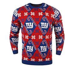 Le pull de noël candy cane des New york Giants pour tous les fans de la NFL. Un pull de noël qui fera fureur chez tous les fans des Giants et du pull de noël.