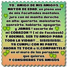 Yo, amig@ de mis amig@s #amistad #amiga #amigos #amigas #amigo