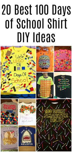 Best 100 Days of School Shirt Ideas Educational Activities For Kids, Craft Activities For Kids, Crafts For Kids, Dyi Crafts, The First 100 Days, 100 Days Of School, School Stuff, 100days Of School Shirt, Kindergarten Teacher Shirts