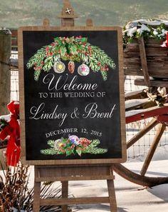 Amazon.com: Winter Wedding Décor - Chalkboard Sign - Wedding Sign - Bride and Groom Gift - Personalized Art Print: Handmade