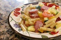 Sausage & Peppers Pasta - Weight Watchers recipe that only takes 20 minutes to make!  Great for spring or summertime!