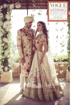 Here are the best Pakistani and Indian matching wedding dresses for bride and groom in There are the unique bride and groom dress color combinations. Indian Bridal Outfits, Indian Bridal Wear, Indian Dresses, Bridal Dresses, Indian Bride And Groom, Bride Groom, Latest Wedding Dresses Indian, Indian Bridal Lehenga, Vogue Wedding