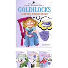 This fourbook set takes classic fairy tales and retells them in a way that allows young readers to use science, technology, engineering, and math to solve the hero or heroines problem with handson activities. Stem Students, Goldilocks And The Three Bears, Classic Fairy Tales, Science Curriculum, Classroom Setup, Retelling, Children's Literature, Hands On Activities, Student Learning
