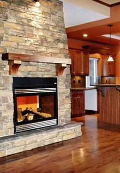 Alpine Ledgestone On Fireplace And Exterior Possibly Half