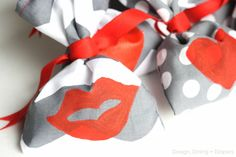 Kiss Me! Handmade Valentine's Day Favors by Design, Dining + Diapers