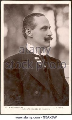 HAAKON VII  King of Norway (1905-57);  formerly Prince Charles of Denmark, son of Frederick VIII     Date: 1872 - 1957 - Stock Image